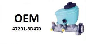 OE- 47201-3D470 – главный тормозной цилиндр